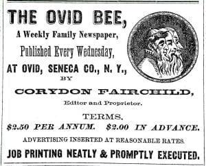 Ovid Bee Advertisement