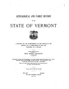 Genealogical and Family History of the State of Vermont vol 1
