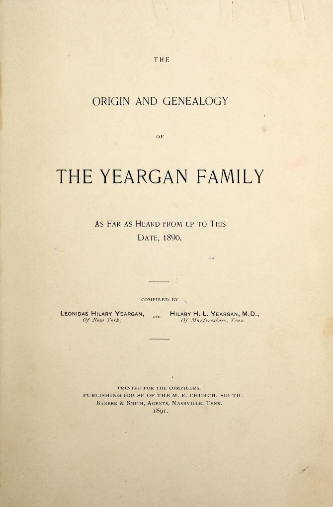 The Yeargan Family