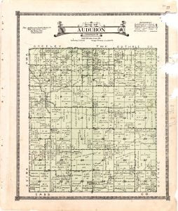 1921 Farm Map of Audubon Township, Audubon County, Iowa