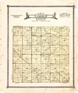 1921 Farm Map of Cameron Township, Audubon County, Iowa