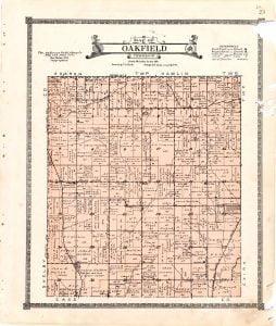 1921 Farm Map of Oakfield Township, Audubon County, Iowa