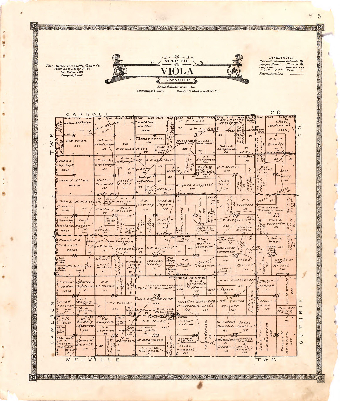 1921 Farmers' Directory of Viola Iowa
