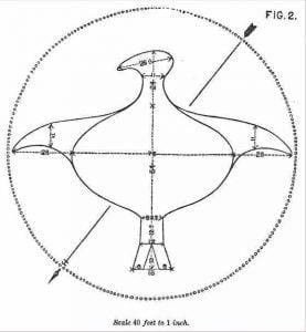 Bird shaped stone mound in Putnam County, Georgia Fig 2