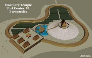 Perspective of Fort Center Mortuary Temple