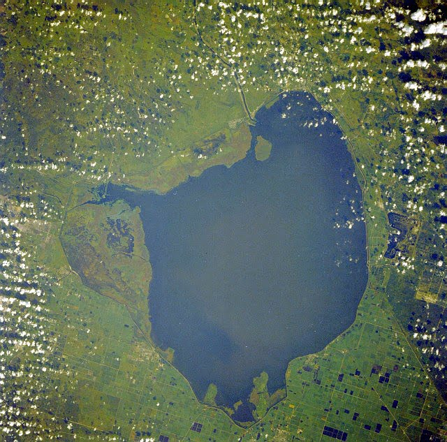 Lake Okeechobee as seen from Space