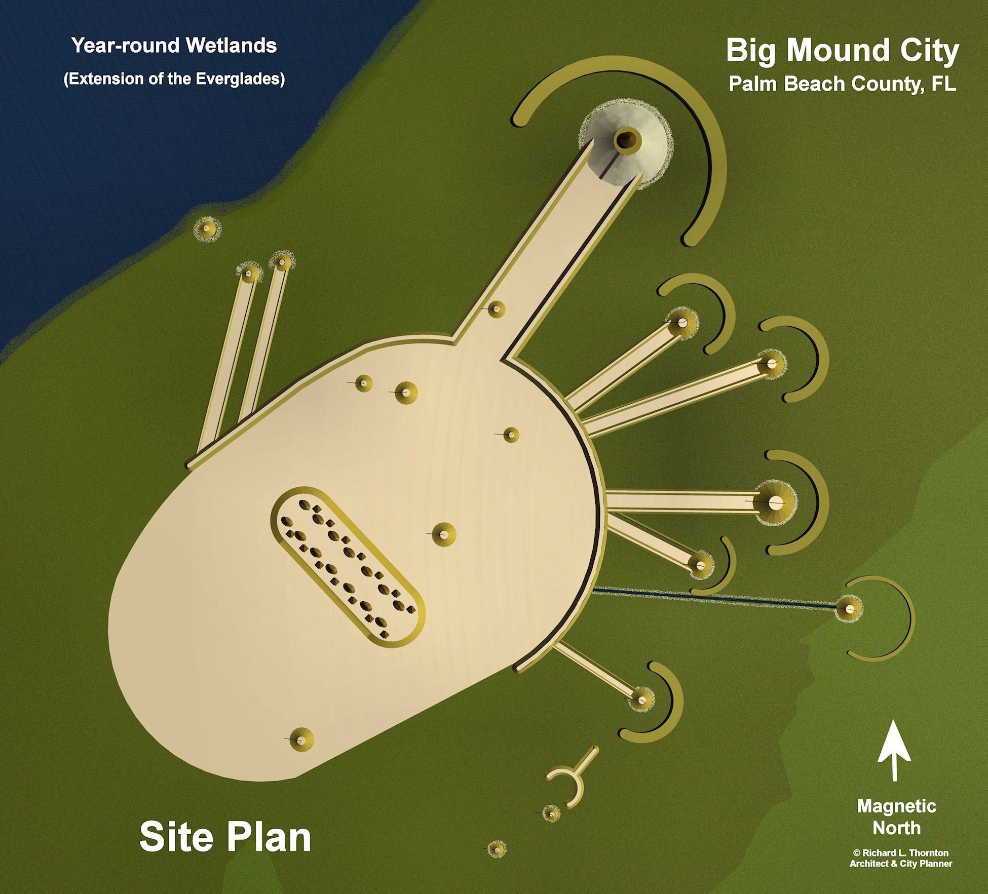 Site Plan of Big Mound City archaeological zone