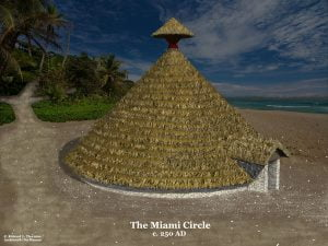 Vector image of the Miami Circle