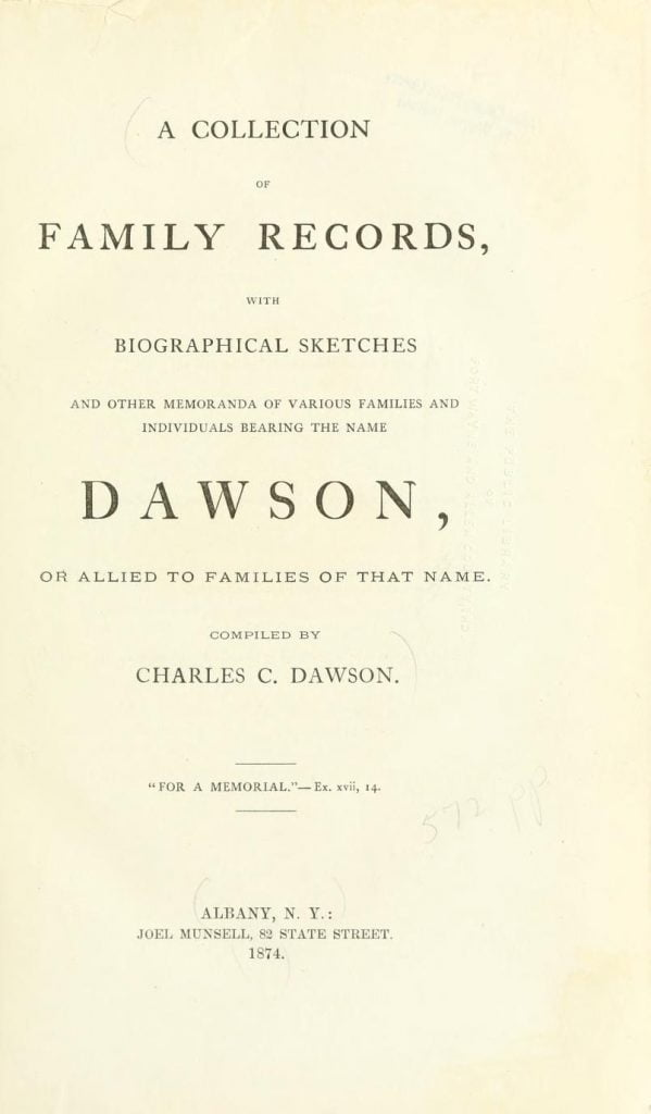 Dawson Family Genealogy 2