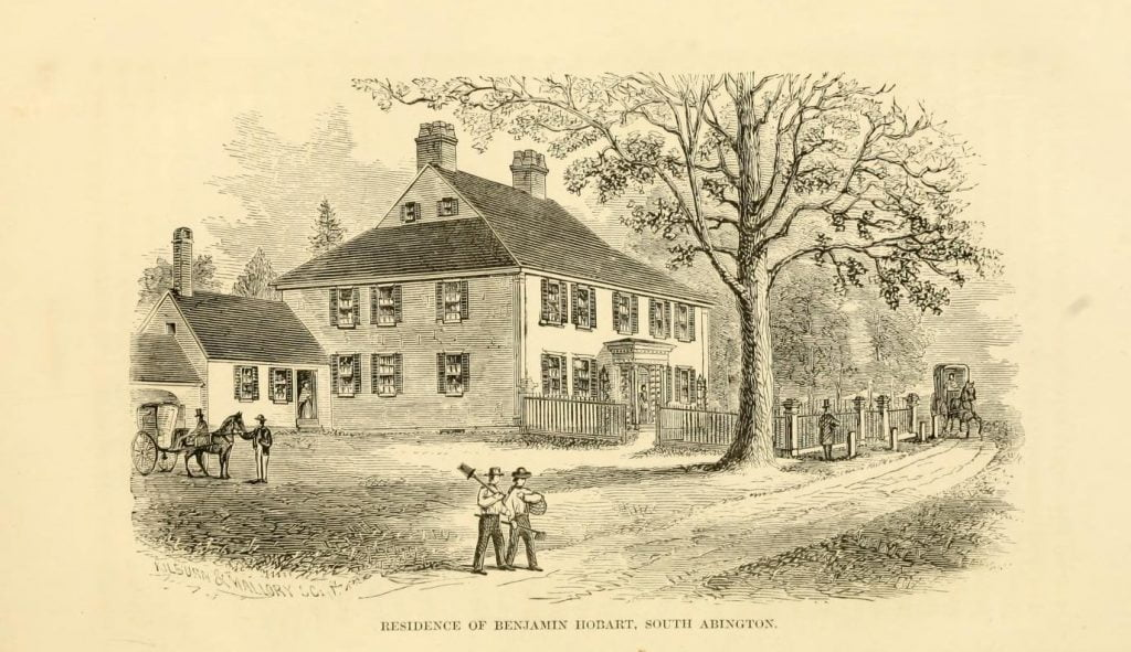 Residence of Benjamin Hobart in South Abington