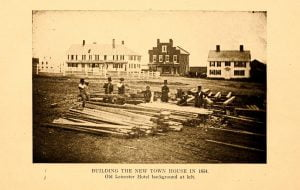 Building of the new town house in 1854