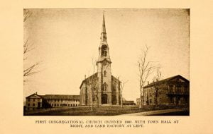 First Congregational Church, Town Hall, and Card Factory