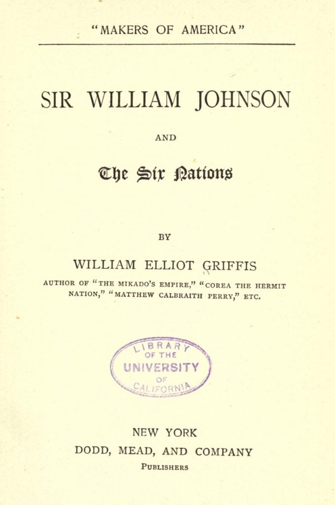 Sir William Johnson and the Six Nations