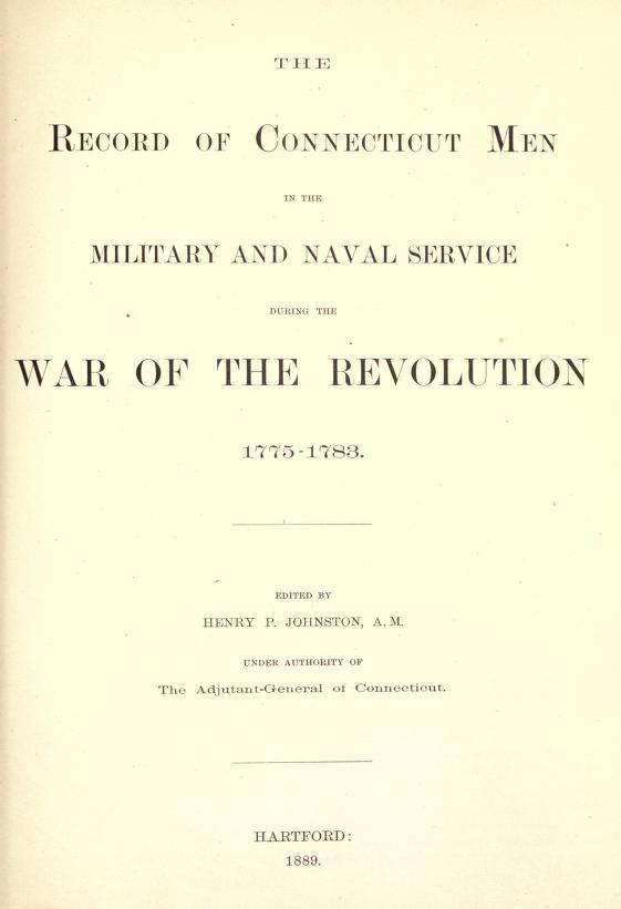 Title Page to Revolutionary War