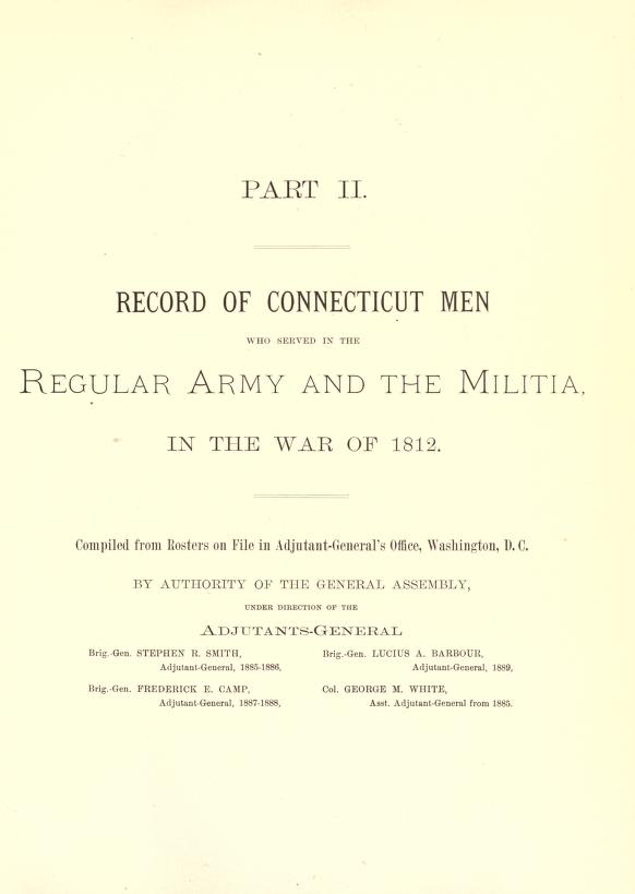 Title Page to War of 1812