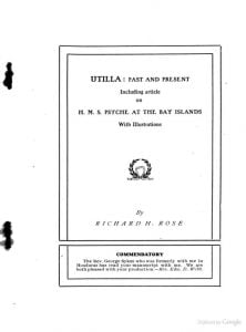 Title page to Utilla, Past and Present. Click on image to read book.