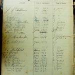 Clayhill Register of Pastors