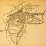 Map of City of Lowell in 1821