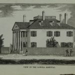 View of the Lowell Hospital abt 1849 in Lowell Massachusetts