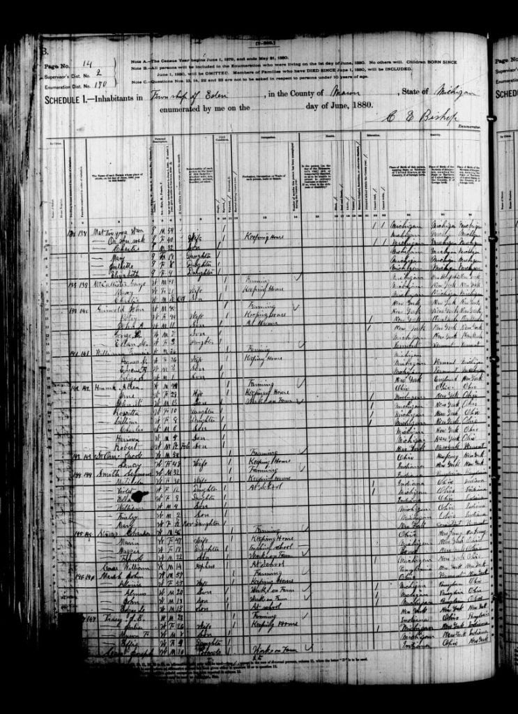 Mason County 1880 Census Reel 0594, page 475