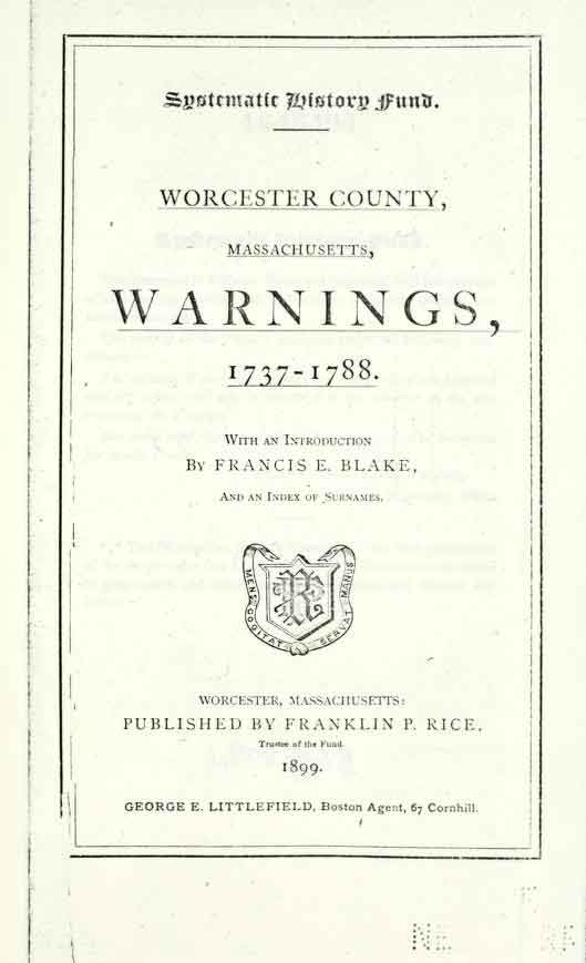 Worcester County MA Warnings