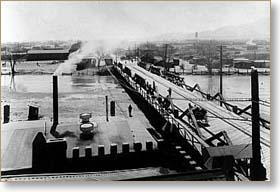 Mexican Border Crossing in El paso Texas, 1917