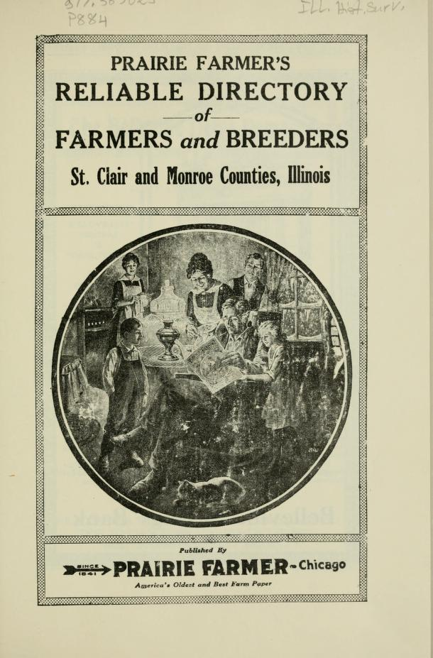 Prairie farmer's reliable directory of farmers and breeders of St. Clair and Monroe Counties, Illinois