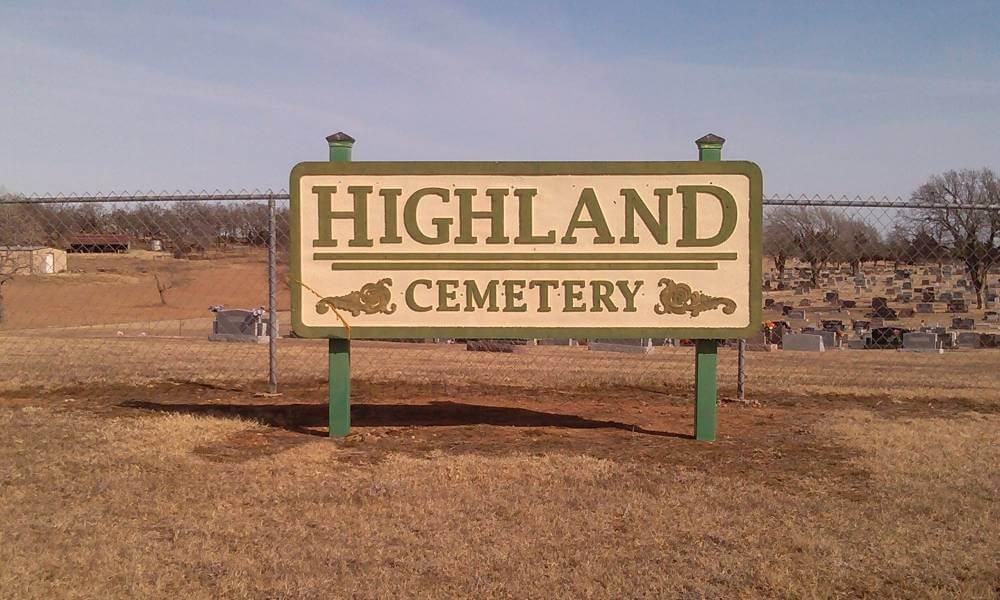 Highland Cemetery, Pawnee County OK