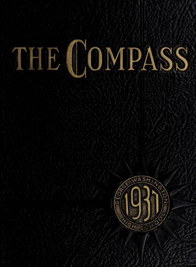 Cover of the 1937 the Compass Yearbook of George Washington High School