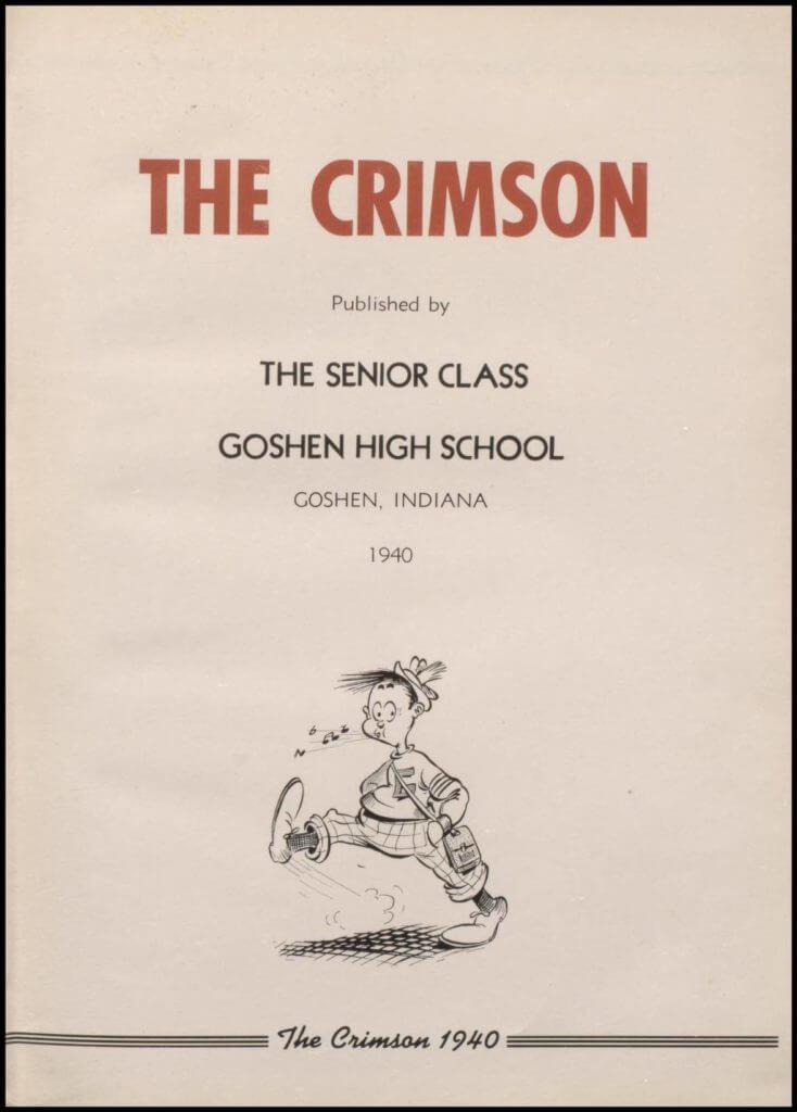 1940 Goshen High School Yearbook - The Crimson