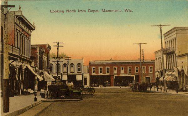 Looking North from Depot, Mazomanie, Wis.