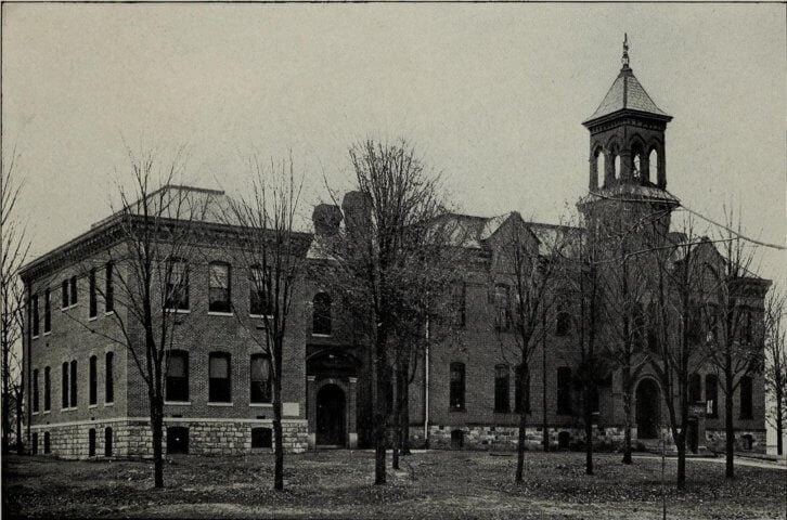 1906 Photo of Angola High School, Angolia, Indiana