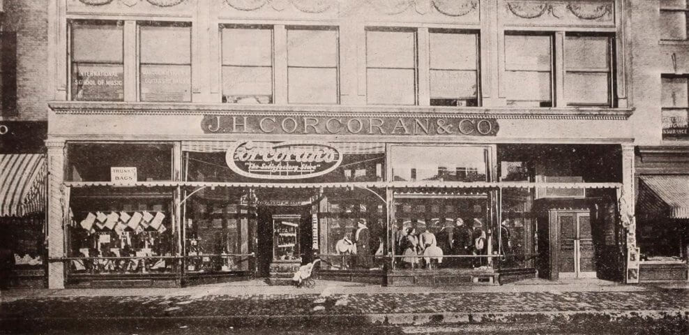 J. H. Corcoran & Co. at 587 Mass Ave., abt 1910