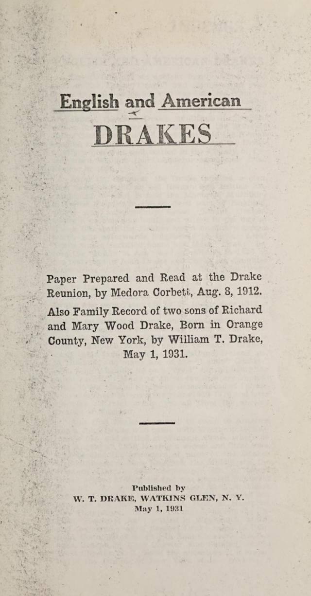 English and American Drakes