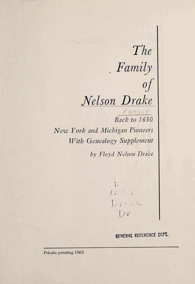 The Family of Nelson Drake