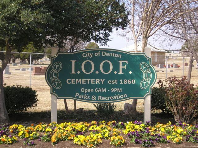 IOOF Cemetery, Denton, Denton County, Texas