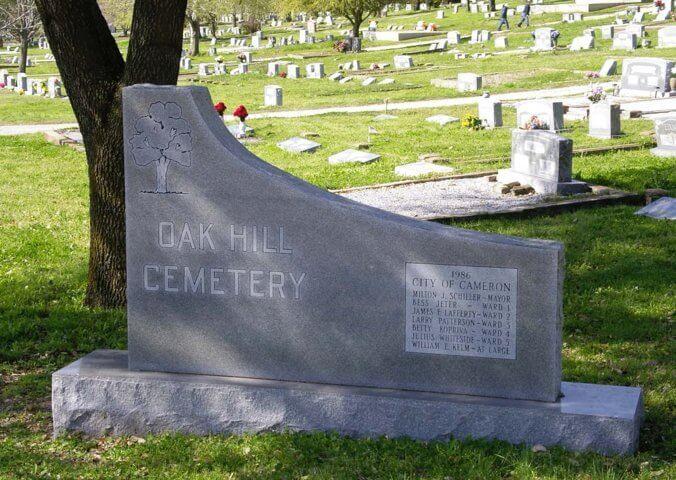 Oak Hill Cemetery, Cameron, Texas