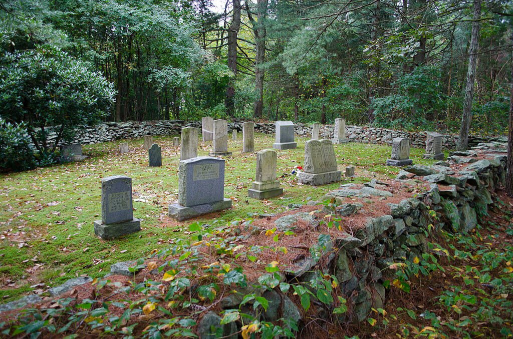 A historic cemetery on the site of Martin Farm in Rehoboth, Massachusetts