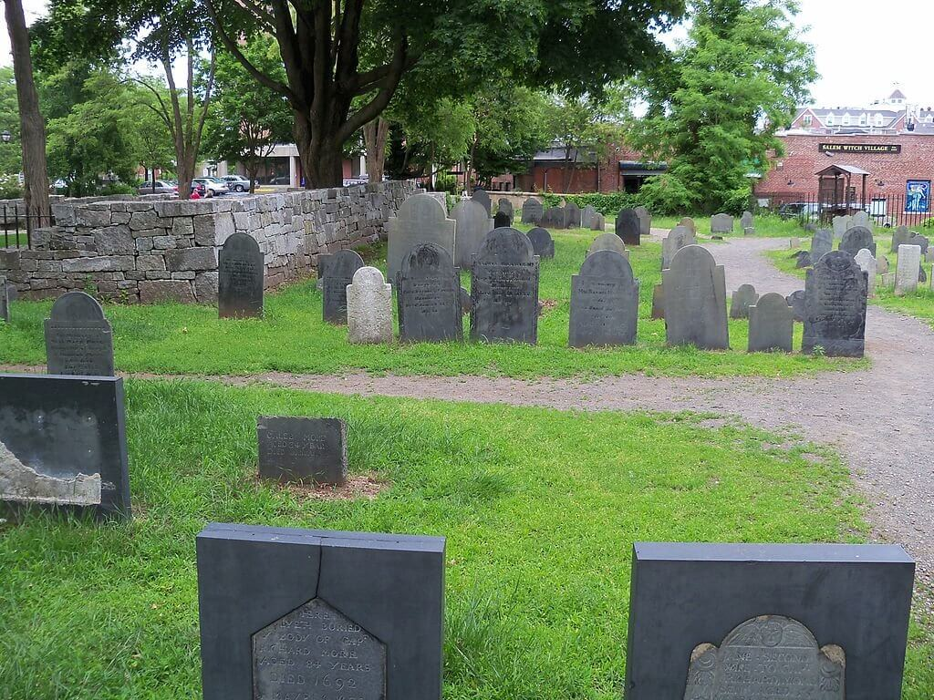 Burying Point Cemetery in Salem, Massachusetts