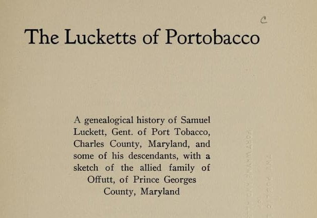The Lucketts of Portobacco
