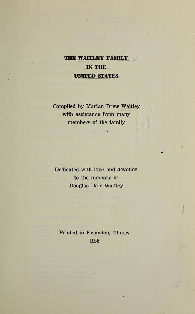 The Waitley family in the United States