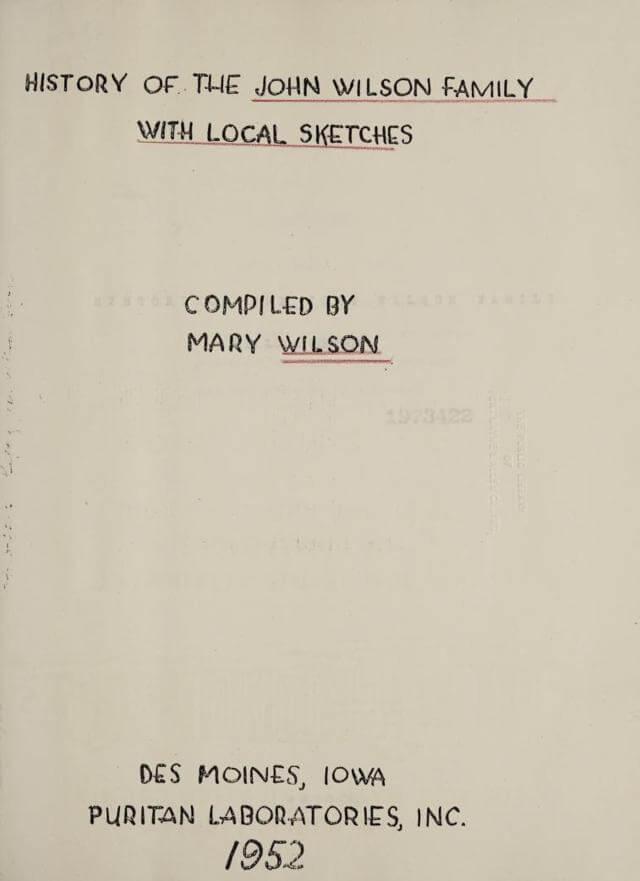 History of the John Wilson family