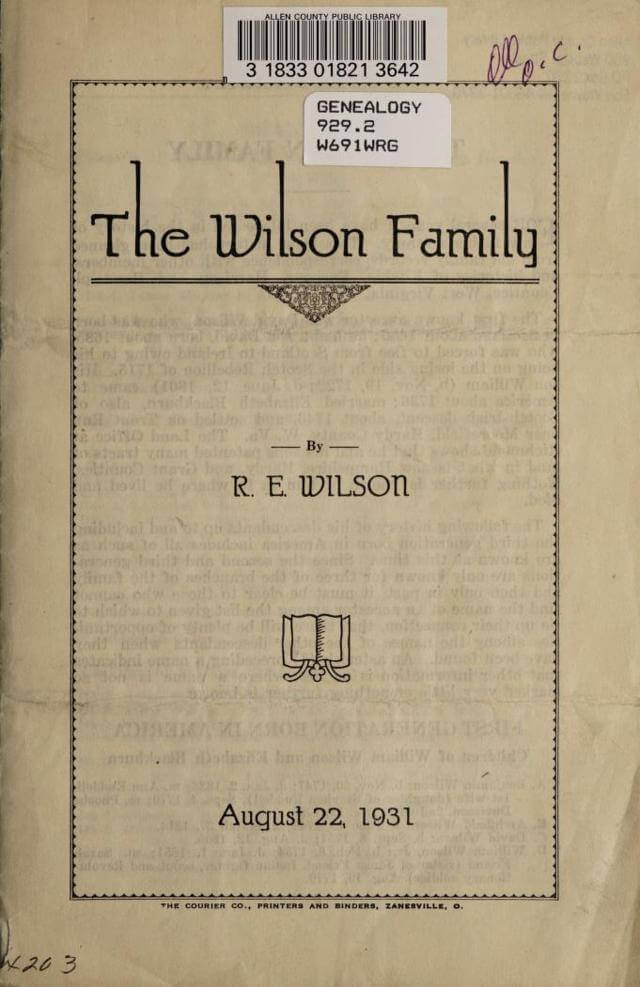 The Wilson Family of West Virginia