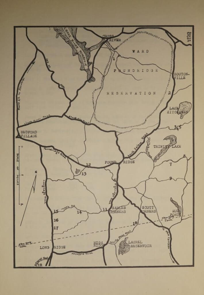 Map of cemeteries in Poundridge New York
