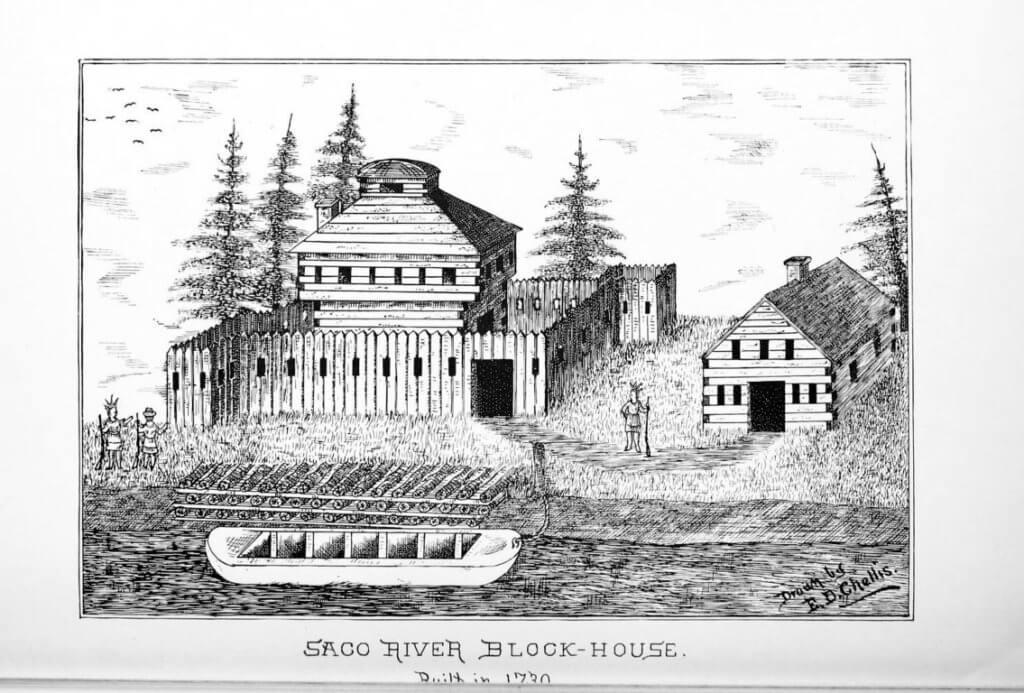 Saco River Block-House, built in 1730