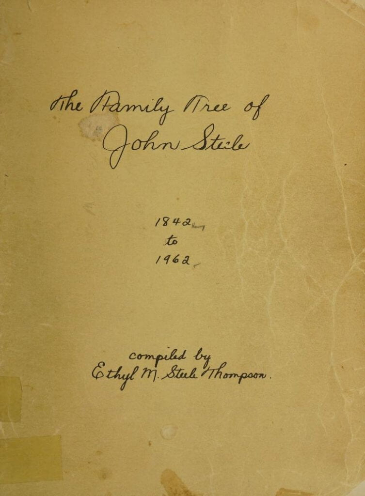 The family tree of John Steele 1842 to 1962