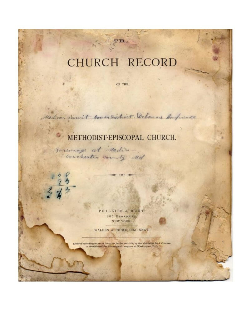 Marriage and Baptism Records, Malone Methodist Episcopal Church, Madison, Dorchester County, Maryland, 1883-1893